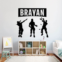 Gamer Personalised wall decal Eat Sleep Game Controller video game decals Customized For Kids Bedroom Vinyl Wall Art A1-010