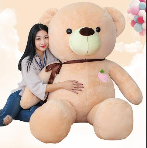 Giant 100cm Love Bear Plush Toy Teddy Bears with strawberry High Quality Selling Toys For Kids Christmas gift fancytrader biggest in the world pluch bear toys real jumbo 134 340cm huge giant plush stuffed bear 2 sizes ft90451