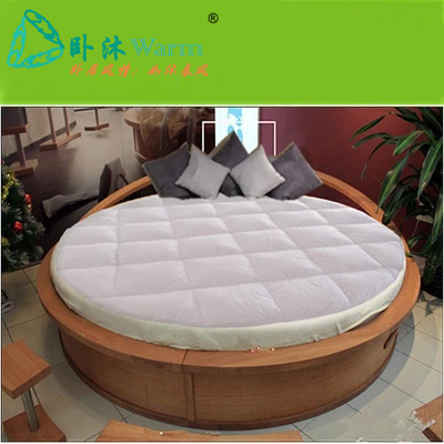 custom made round bed topper down on top featherbeds feather tatami mats king queen mattress pad