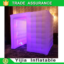 white color wedding party decorations air tent inflatable photo booth led