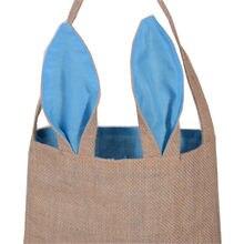 f47a5bda19b4b INS sıcak satmak kadın marka jüt hediye çantası paskalya tavşan kulaklar Tote  çanta Wristlets manşonlar çanta