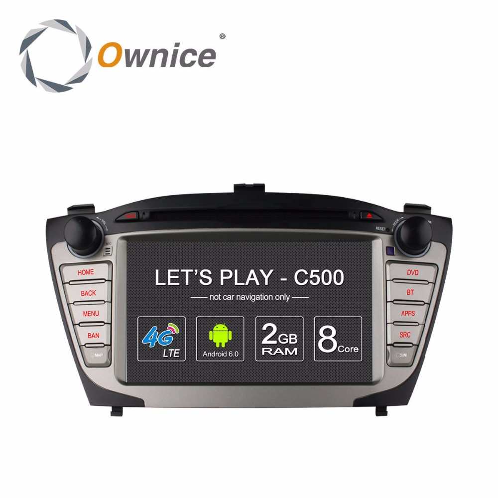 Ownice C500 4G for Hyundai iX35 Tucson 2009 2010 2011 2012 2013 2014 2015 Android 2 din car dvd gps Navigation radio Multimedia free shipping leather car floor mat carpet rug for hyundai sonata hyundai i45 sixth generation 2009 2010 2011 2012 2013 2014