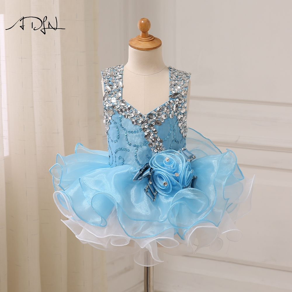 Helpful Adln Sky Blue First Communion Dresses With Beads Mini Baby Cupcake Dress Princess Pageant Dresses For Girls Glitz Weddings & Events Wedding Party Dress