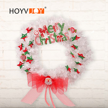 цена на HOYVJOY Christmas Mesh Wreaths Letter Star Decorations For Home 45cm Large Garlands Plus Bowknot Inset
