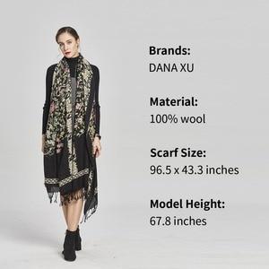 Image 4 - DANA XU Bufanda Mujer Wolle Poncho Kopf Schals Frauen Elegante Dame Carf Und Warme Schal Stola Bandana Schal Hijab Luxus marke