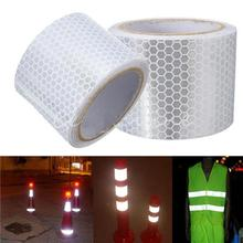 цена на 1m x 5cm Reflective Safety Warning Conspicuity Tape Film Car Body Sticker pegatina coche accesorios automovil