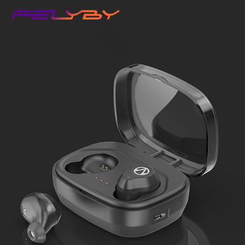 FELYBY X10 Bluetooth Headset Mini Invisible Wireless Binaural Waterproof Touch Automatic Connection Sports Headset
