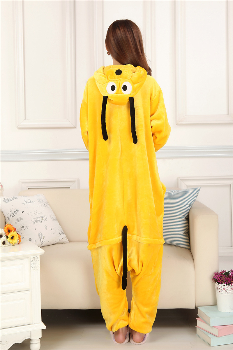 Yellow Dog Kigurumi Onesies Cosplay Cute cartoon Children Sleepwear Unisex Pyjamas Anime Adult Pluto Pajamas Set Sleepsuit