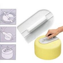 1PC Plastic Cake Marker DIY Decorative Surface Leveler Decorator Garland Border Accessory Baking Slicer Tool OK 0321