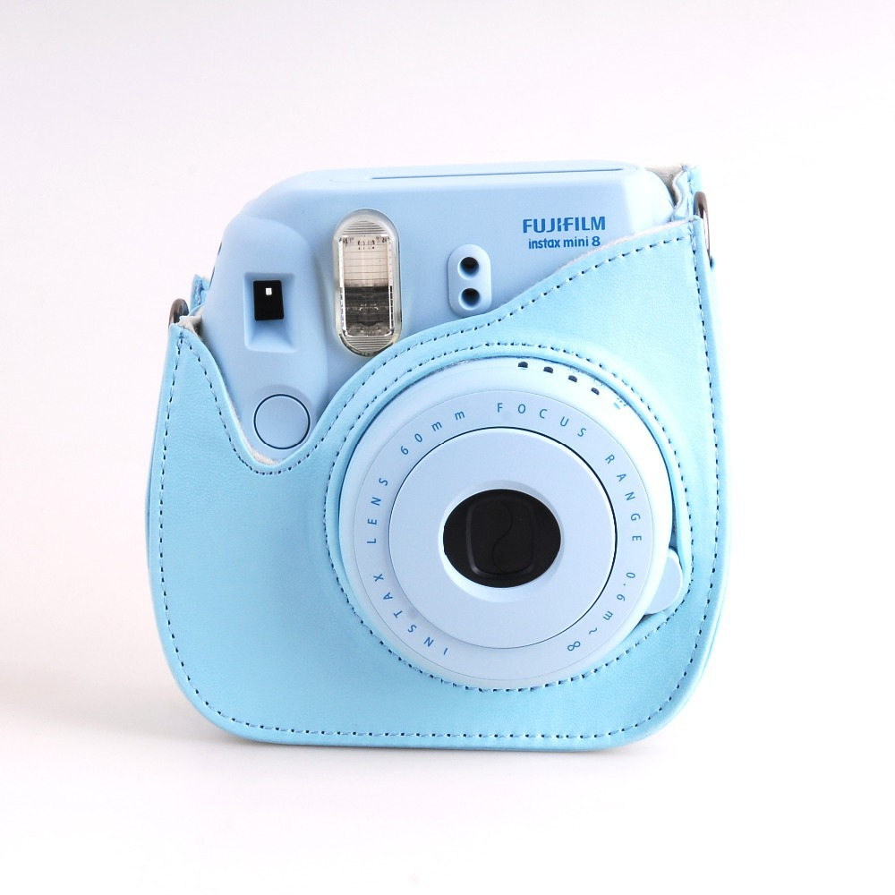 instax mini 8 blue instant photo camera mini 8 leather bag free shipping in camera video bags. Black Bedroom Furniture Sets. Home Design Ideas