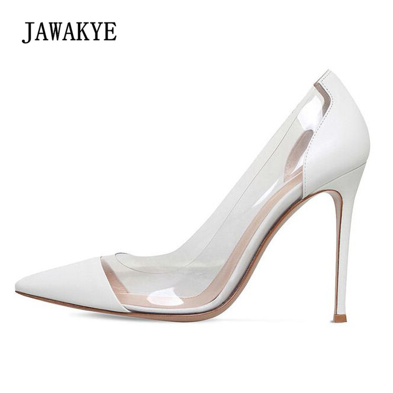 2018 Summer Pvc Wedding Shoes Woman Pointed Toe Patchwork Shallow Mouth Sexy High Heel Shoes Women Pumps 2018 Summer Pvc Wedding Shoes Woman Pointed Toe Patchwork Shallow Mouth Sexy High Heel Shoes Women Pumps