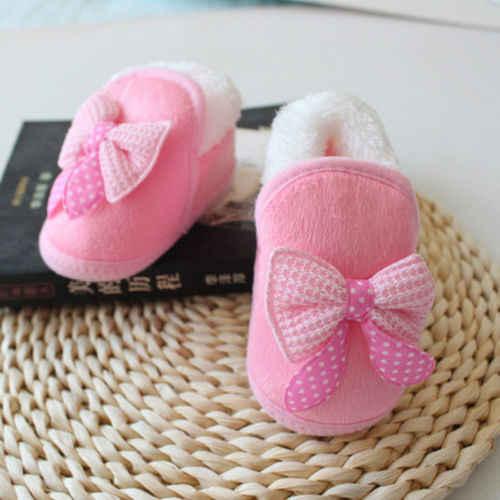 Emmamaby Infante recién nacido niñas arco suave cuna suela botas preandador cálido Zapatos rosa rojo 0-18M