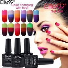Elite99 3 Cores Unhas Gel UV Polonês Camaleão Mudança de Humor Gel Polonês Led UV Gel Laca Verniz de Unhas de Gel Manicure 10 ML/PC(China)