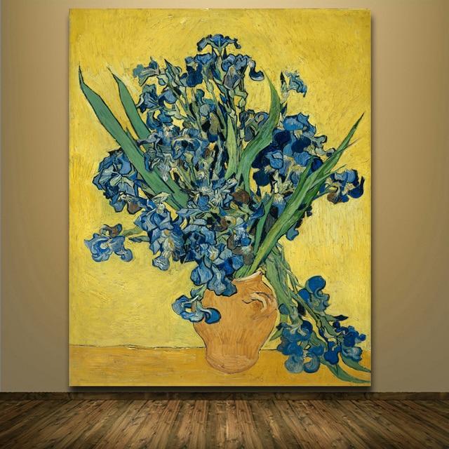Frameless Famous Masters Vincent Van Gogh Irises Flower Prints ...
