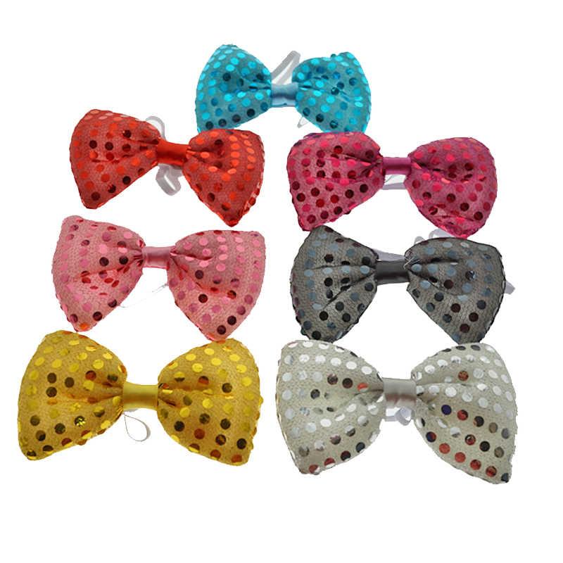Светодиодный игрушки мигающий свет галстук-бабочка светодиодный мужские и женские вечерние легкие блестки галстук Свадебные украшения Хэллоуин светится в темноте