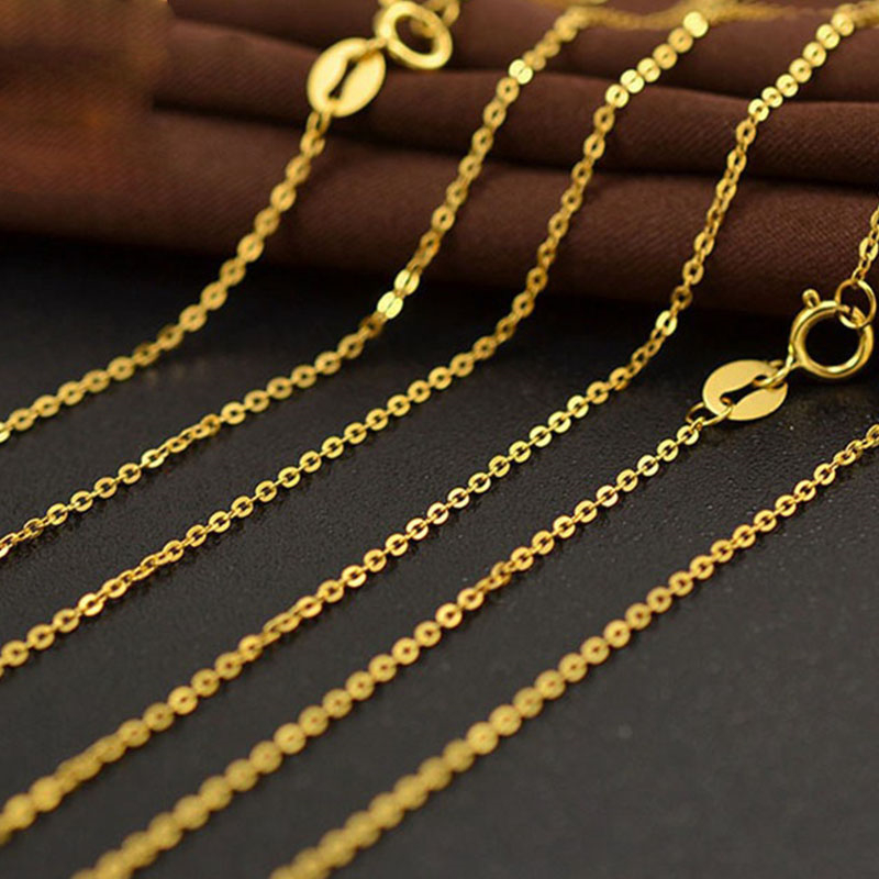 Aazuo 18k White Yellow Rose Gold Link Chain 16 Inches 40cm Au750 Cost Price Cross Chain Necklace Wendding Party Gift For Women Chain Necklaces Aliexpress