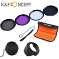 For Sony  9in1 67 UV protector FLD ND4 Neutral Density CPL Circular Polarizing Lens Filter Kit free shippihng