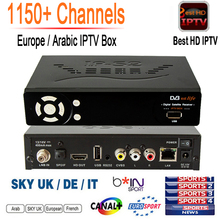 1150+ Channels Free IPTV IP-S2 Plus Smart Tv Box DVB-S2 Satellite Receiver HD Full 1080P 1 Year Europe Arabic IPTV Subscription