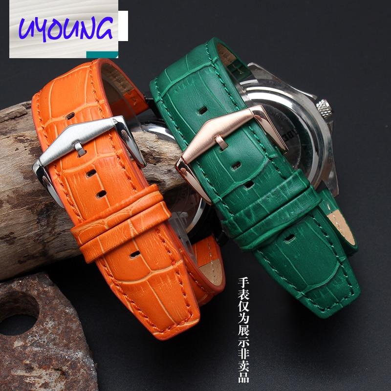 UYOUNG Leather Watchband alternative Pebble Time steel ...