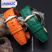 UYOUNG Bracelet En Cuir alternative Pebble Temps acier | Smart Watch Ticwatch montre bracelet 22mm