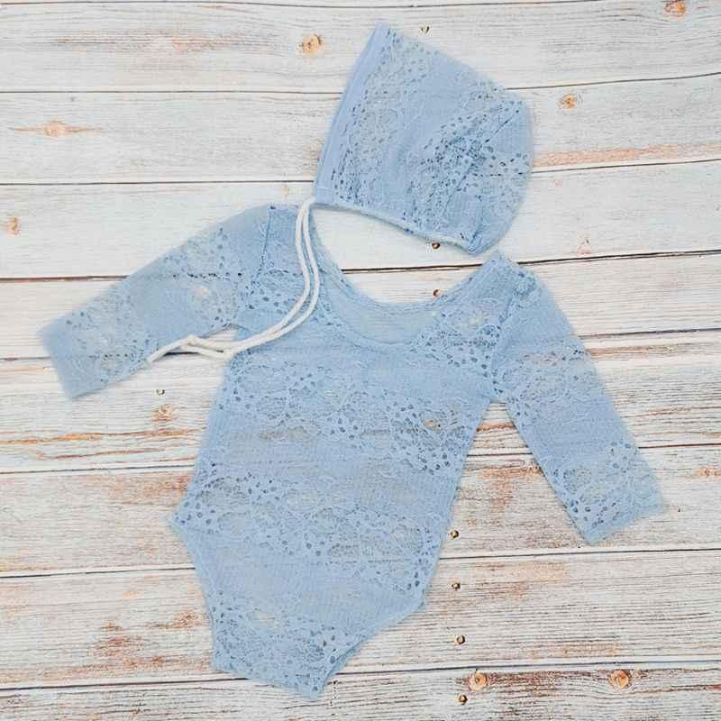 Nuevos niños ropa de fotografía recién nacido Ropa de encaje Luna Llena cien días bebé princesa sombrero Onesies