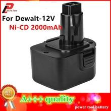 Ni-cd 2.0Ah Замена Мощность инструмент Батарея для Dewalt 12 В 2000 мАч DE9074 DC9071 DE9037 DE9071 DE9074 DE9075 DW9071 DW9072 DW9074