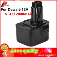 12V Ni Cd 2 0 Ah Replacement Power Tool Battery For Dewalt DE9074 DC9071 DE9037 DE9071
