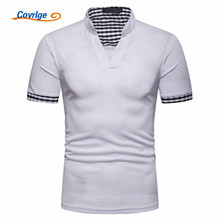 Covrlge New Polo Shirt Men Summer British Style Hot Sale Casual Solid Short Sleeve Male Breathable Mens Tee MTP121