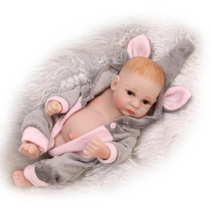 a559aed48348a US $27.93 30% OFF|NPK Doll Mini Reborn Baby doll 10 Inch Full Silicone bebe  Babies Toys Realistic Newborn Boy Baby Dolls For Child Gift-in Dolls from  ...