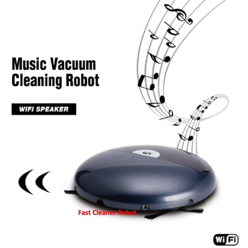 цена на Newest Smartphone WiFi App Control Automatic Robot Vacuum Cleaner With Music Player, Schedule,Auto Recharge, Li-ion Battery