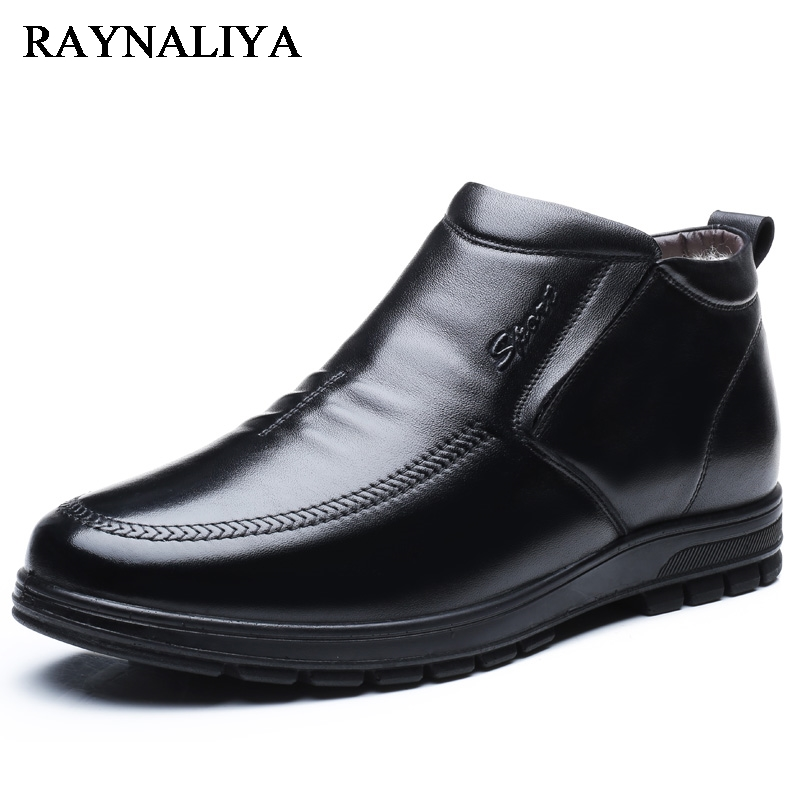 Hot Sale Autumn Winter Black Genuine Leather Casual Snow Boots Men Ankle Boots Flat Fashion Man Winter Shoes Big Size BH-A0025 air pneumatic straight bulkhead union 10mm 8mm 6mm 4mm 12mm od hose tube one touch push into gas connector brass quick fitting
