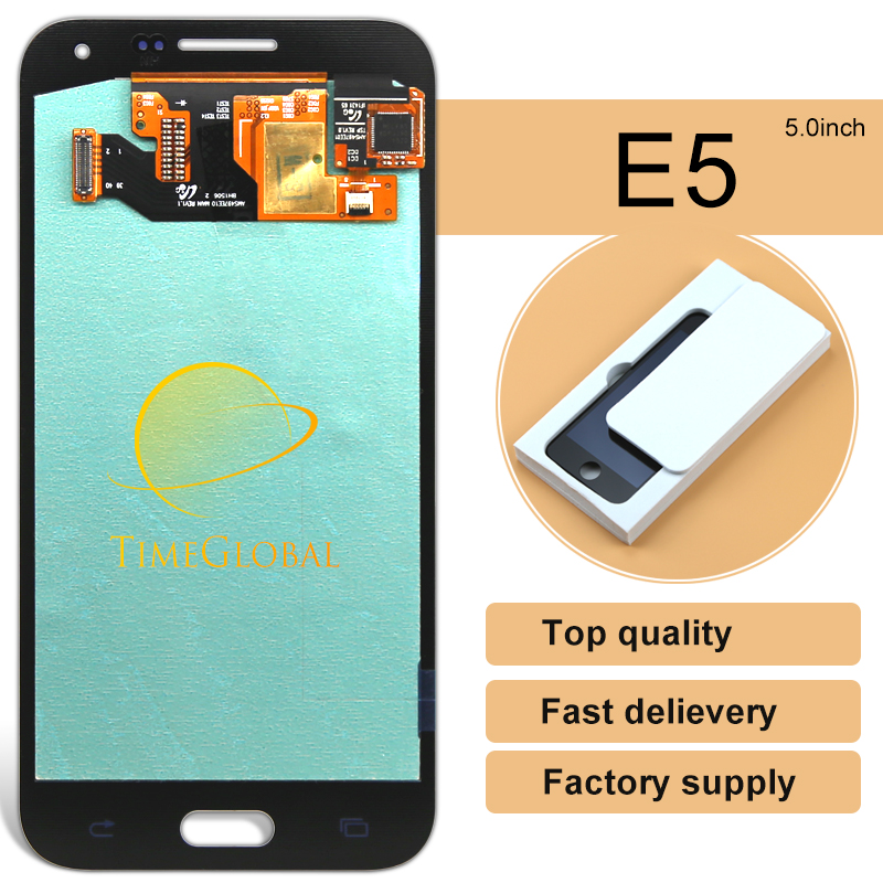 ФОТО 5pcs Original Mobile Phone Parts For Samsung E5 Sm-e500f Lcd Display Screen Touch Digitize Assembly Special Offer Rushed