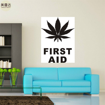 Wall Vinyl Maryhuana Weed Quotes First Aid Smoking