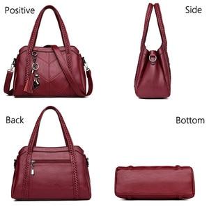 Image 3 - 패션 여성 가방 어깨 가방 여성 Tassel 럭셔리 핸드백 여성 가방 디자이너 sac 주요 브랜드 가죽 crossbody 가방