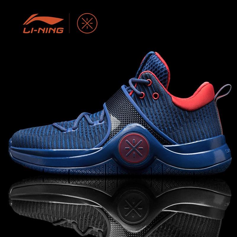 Li-Ning Men WOW 6 'Veteran' Basketball Shoes Cushion Sneakers Li-Ning Cloud Support LiNing Sport Shoes ABAM089 XYL133 цена