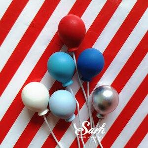 Image 5 - 1 takım renkli altın gümüş balon kek Topper için düğün doğum günü partisi dekorasyon tatlı güzel hediyeler
