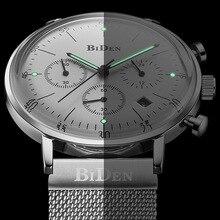 New Men Watches Top Brand Luxury Business Sport Chronograph Quartz Man Ultra Slim Clock Waterproof Wrist Watch Relogio Masculino стоимость