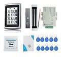 Хит продаж! Полный RFID дверной замок  система контроля доступа + блок питания + Электрический магнитный замок + кнопка выхода двери + звонок + к...