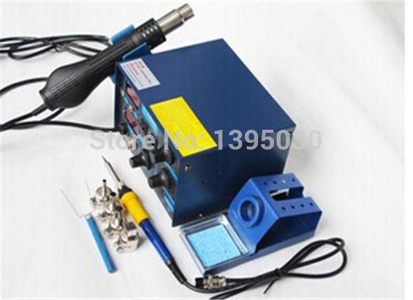 NEW Arrival Saike 952D Rework Station Hot Air Gun Soldering Station 220V Or 110V все цены