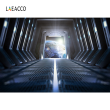 Laeacco Fantasy Space Ship Interior Planet View Photography Backgrounds Customized Photographic Backdrops Props For Photo Studio