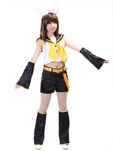 Free Shipping Vocaloid Kagamine Rin Singing Uniform Anime Cosplay Costumes(China)