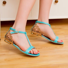 Gladiator Sandals Women Promotion Plus Size Ladies Shoes Women High Heel 2017 Sapato Feminino Summer Style Chaussure Femme 313(China)