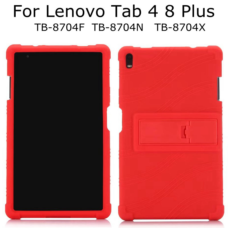 on sale 96dde 6e718 Soft Silicone Case for Lenovo Tab 4 8 Plus TB-8704F/8704N/8704X 8.0 inch  Tablet ,Ultra-thin Rubber TPU Funda Cover+Touch Pen