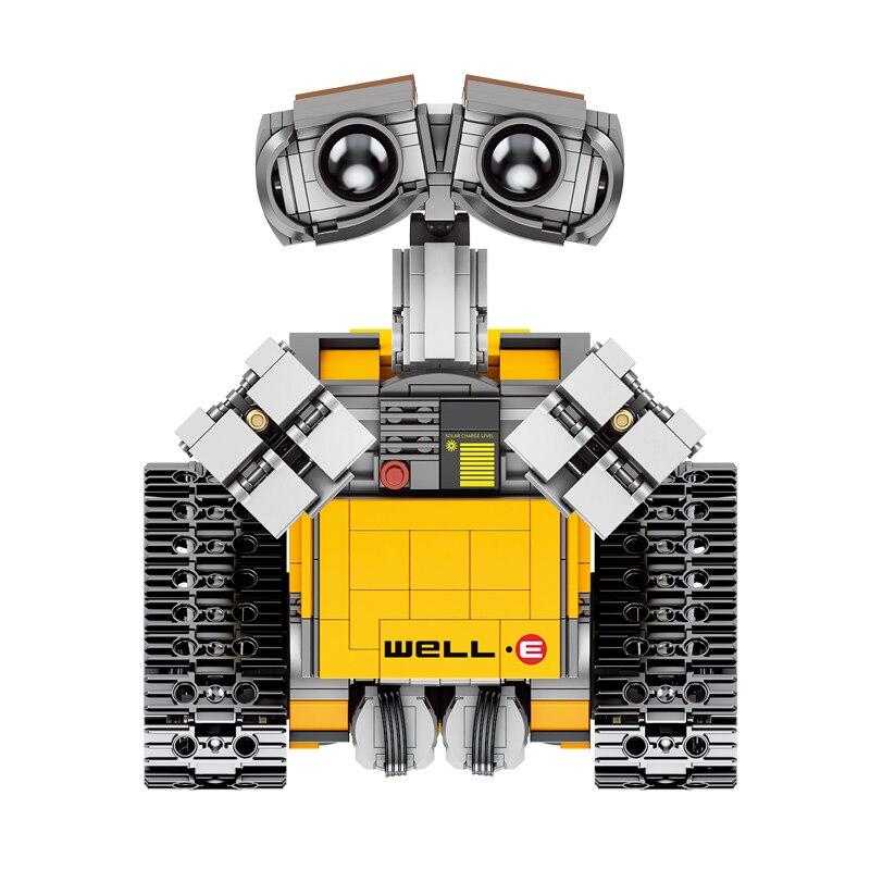 RC télécommande mur E Robot C Figure blocs de construction briques modèle jouets Compatible avec 16003 Technic 21303 - 4