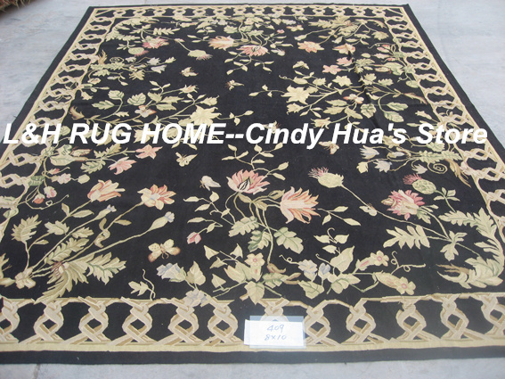 Free shipping 8x10 Aubusson carpets handmade woolen rugs classical designFree shipping 8x10 Aubusson carpets handmade woolen rugs classical design