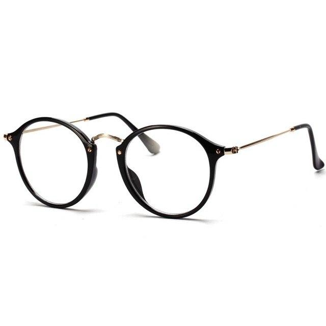 2017 Novos Homens Das Mulheres Do Vintage Rodada Armações de Óculos Ópticos  Retro Óculos de Armação 56d2231ec8