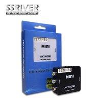 SSRIVER rca AV HDMI 1080 마력 AV2HDMI 미니 HDMI 컨버터 신호