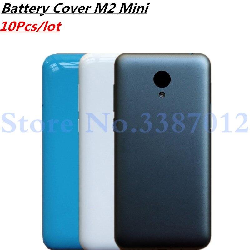 10 Pcs/lot coque arrière de batterie pour MeiZu m2 Mini couvercle de boîtier avec objectif de caméra + boutons de Volume d'alimentation + plateau de carte SIM