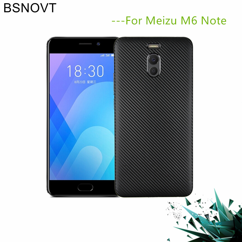 For Meizu M6 Note Cover Soft Carbon fiber Slim TPU Shockproof Phone Case Fundas 5.5{