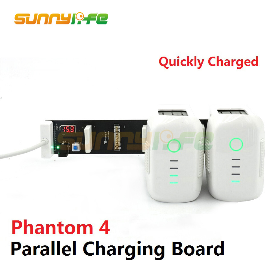 Battery Parallel Charging Board Plate Multi Battery 3-Battery Charger Hub for DJI Phantom 4/ 4 PRO and 4 PRO+